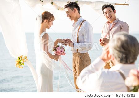 로맨틱 한 리조트 웨딩 65464583