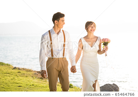 로맨틱 한 리조트 웨딩 65464766