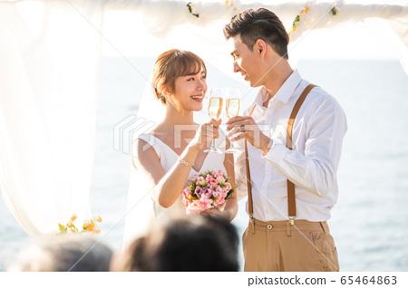 로맨틱 한 리조트 웨딩 65464863