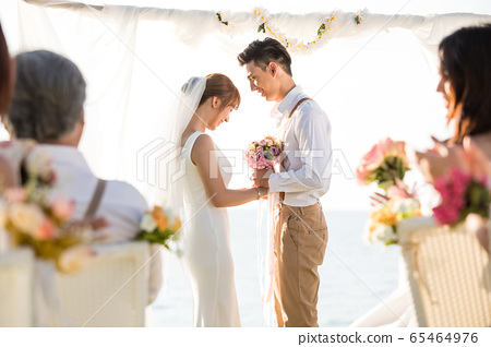 로맨틱 한 리조트 웨딩 65464976