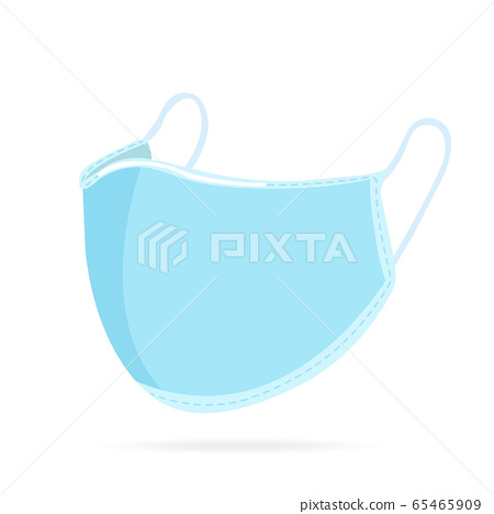 blue surgical mask isolated on white background vector eps10 65465909
