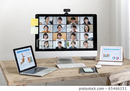 在線會議Web會議遠程工作區圖像 65466151