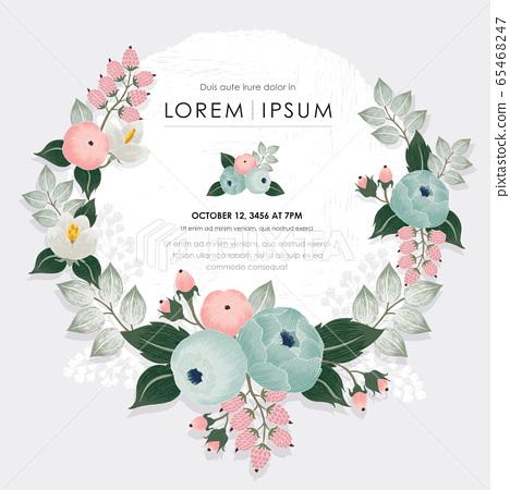 Vector illustration of a floral frame in spring 65468247