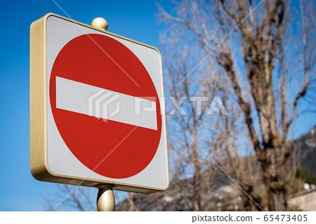 No entry or Wrong way - Road sign Photography 65473405