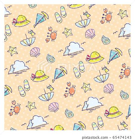 여름 소재 패턴 무늬 컬러 도트 무늬 크림 65474143
