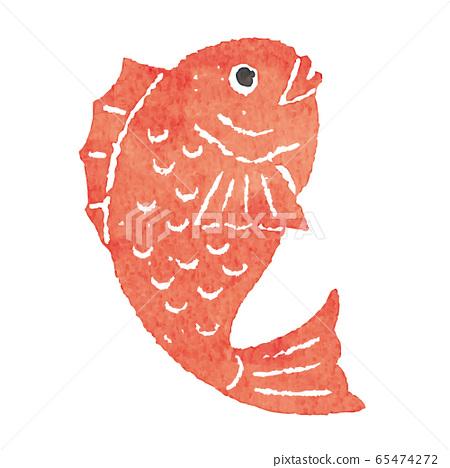 鯛魚郵票郵票矢量 65474272