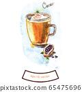 Watercolor cacao 65475696