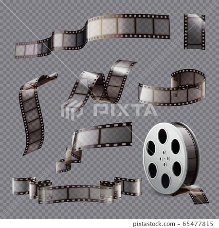 Film Stripes Transparent Set 65477815