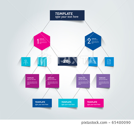 Flowchart Diagram Scheme Infographic Element Stock Illustration 65480090 Pixta