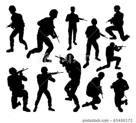 Soldier Military Detailed Silhouettes 65480172