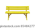 yellow wood bench isolated on white background 65484277