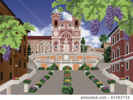 가을의 로마의 일러스트 65493738
