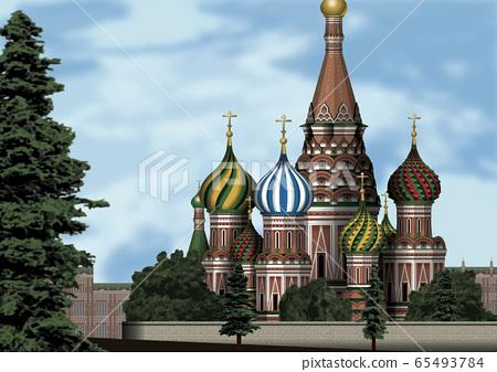 莫斯科在春天的插圖 65493784