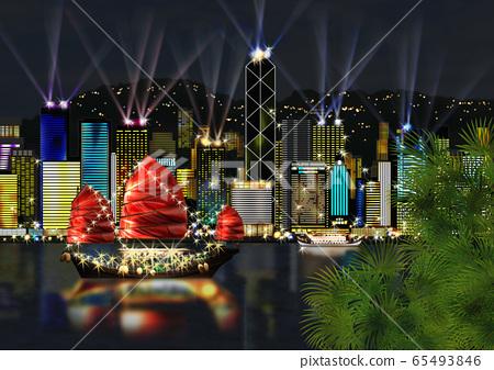 香港島夜景圖 65493846