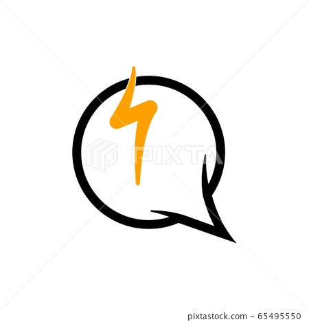 bubble chat lightning vector graphic design 65495550