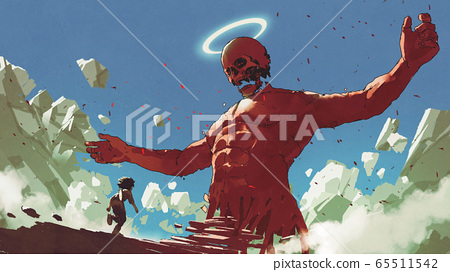 the boy meet the red giant statue 65511542