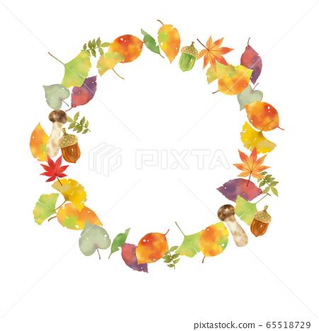 秋季主題花圈 65518729