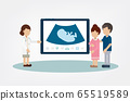 Gynecologist with pregnant woman 65519589