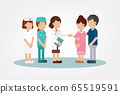 Gynecologist with pregnant woman 65519591
