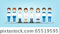 Medical staffs with blank sign 65519595