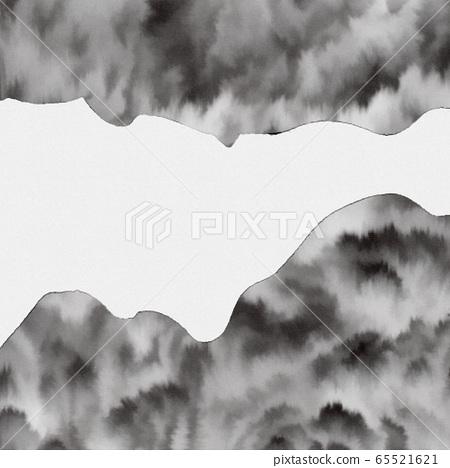 추상미 丽的 동방 수채화 질감, 산, 마사키 숲 65521621