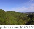 มุมมองทางอากาศของป่าไม้และท้องฟ้าสีฟ้า (ชายฝั่ง Enrada (Kurara Tako) ฝั่ง / เมือง Yorii เมือง Misato, Saitama Prefecture) 65527222