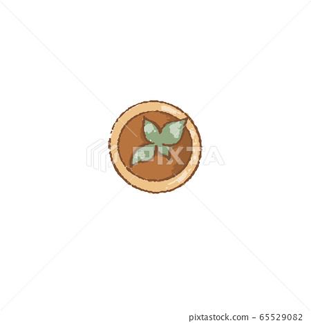Decorative grass in flowerpot, culinary herbs. Top 65529082