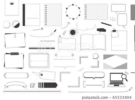 各種標題設計材料標題參考(單色) 65533904