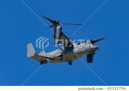 Flight training of US Air Force CV-22B Osprey at Yokota Air Base (Fussa, Tokyo) 65537756