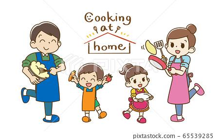 가족 요리 Cooking at home (전신 ver) 65539285