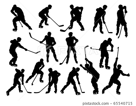 Hockey Player Sports Silhouettes 65540715