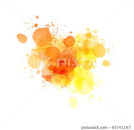 Watercolor painted splash background 65541267