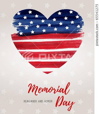 Usa Memorial day holiday background 65541275