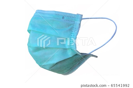 Medical mask for corona or covid-19 virus ,safety breathing masks for virus inflection,isolated on a white background, health protection concept,cover mouth and nose to prevent virus,pollution,pm2.5 65541992