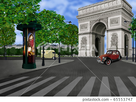 Illustration of the Arc de Triomphe in France 65553747