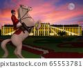奧地利照亮了美泉宮和騎馬圖 65553781