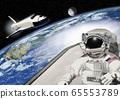 宇航員和航天飛機的插圖 65553789