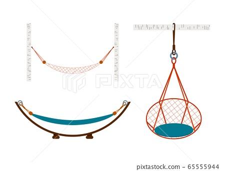 Vector illustration of a hammock 65555944