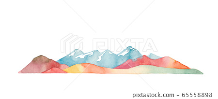 Mountains of the four seasons, autumn, long 65558898