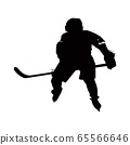 Silhouette of hockey player 65566646