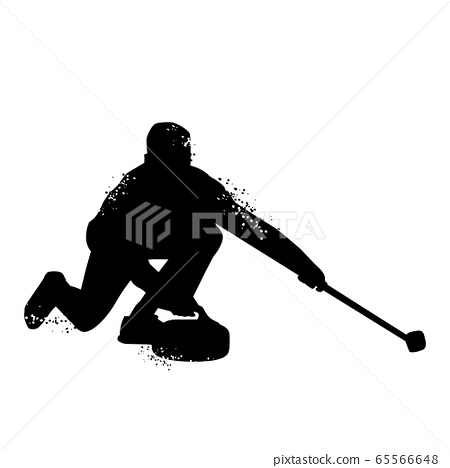 Curling player silhouette 65566648