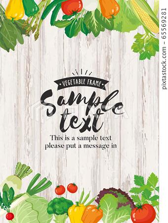 蔬菜架(垂直)木紋背景 65569281