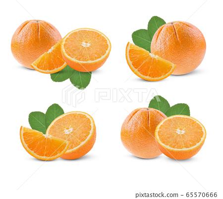 Orange on a white background. 65570666