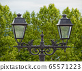 vintage streetlights in Pau city, France 65571223