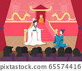 People Chinese Theater Play Illustration 65574416