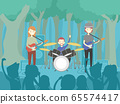 People Band Perform Forest Illustration 65574417