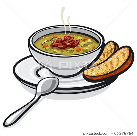 pea soup with ham 65576764