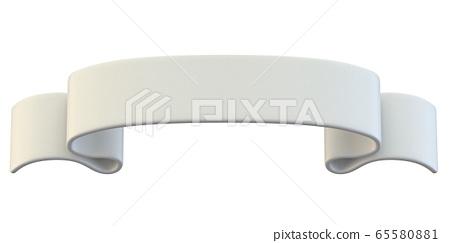 White classic blank ribbon tag label 3D 65580881