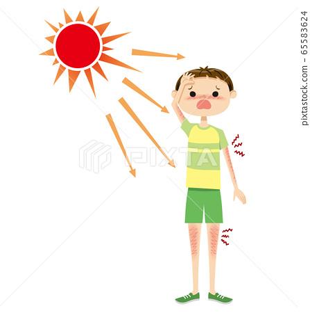 어린이 자외선 03 태양 65583624