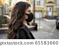Girl posing outdoors during pandemic of COVID-19 65583660